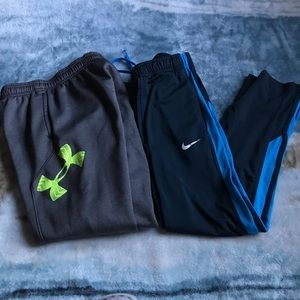 2 Boy's Under Amour + Nike Pants/Joggers YMD